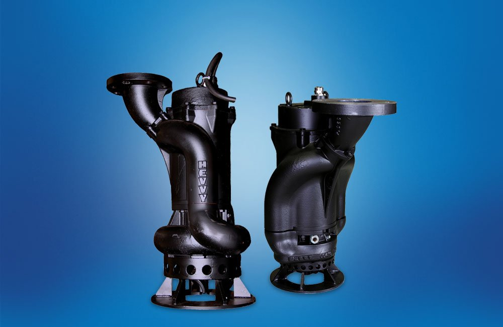 The HT twin slurry pumps side by side.
