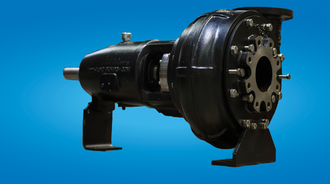 Toyo and Hevvy horizontal industrial pump.