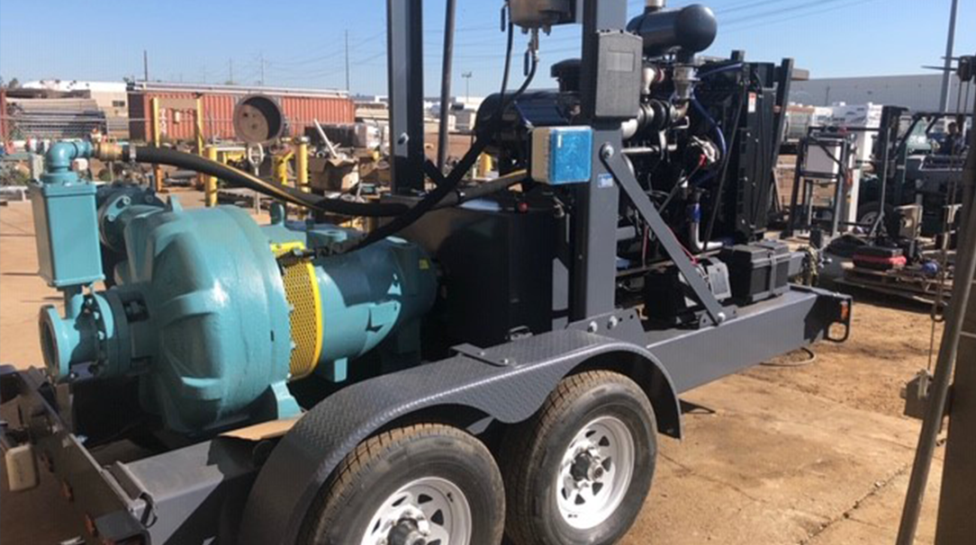 diesel powered horizontal pump