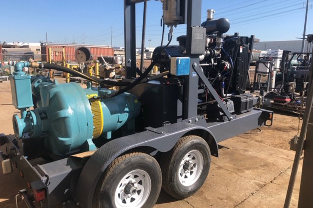 diesel powered horizontal pump